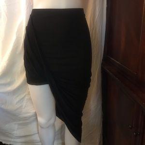 🆕 Finesse USA Black Asymmetrical Skirt-Small